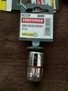 New Craftsman Max Axess Metric Socket 6point 17 Mm 3 8 Drive 29290