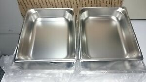 4 New Vollrath Stainless Steel Steam Table Super Pan 90222 1 2 Size dw3b1