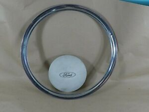Mustang Foxbody Polycast Wheel Center Cap And Trim Ring 85 89