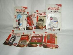 Coca Cola Refrigerator Magnets - Lot of 8 - Two Musical