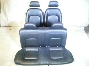 Mk4 Vw Volkswagen New Beetle Set Of Black Leather Seats Front Rear 1998 To 2010