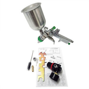 2 5mm Nozzle Hvlp Stainless Spray Gun Home Automotive Paint Sprayer Cup 600cc