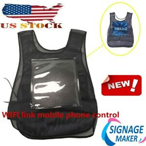 Us Stock Vest Screen Full Color Led Advertising Vest Led Screen wifi