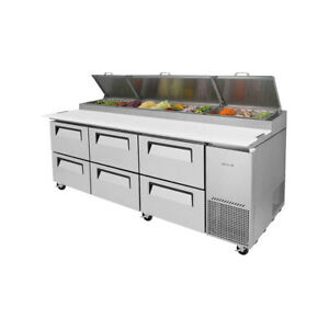 Turbo Air Tpr 93sd d6 n 93 Three Section Refrigerated Pizza Prep Table 31 0