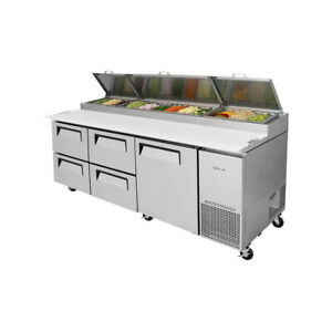 Turbo Air Tpr 93sd d4 n Refrigerated Counter Pizza Prep Table