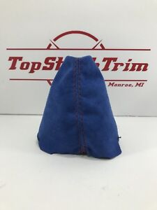 Fits 2006 11 Honda Civic Si Blue Suede Shift Boot