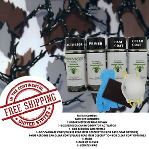 Hydrographic Water Transfer Hydro Dip Full Kit Activator 1m Tree Camo 2 Film
