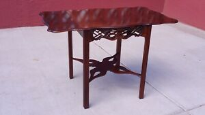 Chinese Chippendale Mahogany Drop Leaf