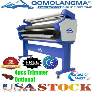 Us Stock Qomolangma 55in Full auto Wide Format Cold Laminator With Heat Assisted