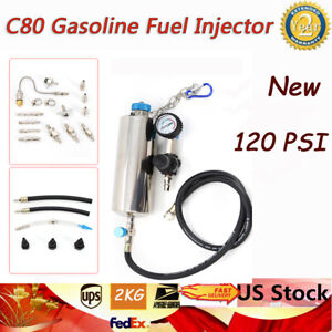 C80 Non dismantle Fuel Injector Tester Cleaner Tool Set Adapter Universal Tools