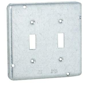 4 11 16 In Square Exposed Work Cover For Two Toggle Switches 10 pack