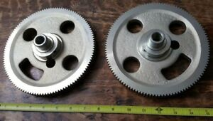 2 Qty Of Large 7 1 4 Vintage Industrial Cast Steel Gears Steampunk