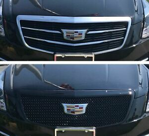 Black Horse 2015 2018 Cadillac Ats Overlay Grille Trims Gloss Black