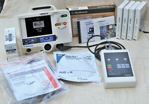 Medtronic Lifepak 20 Aed 3 Lead Pacer Combo W Patient Simulator Training Pads