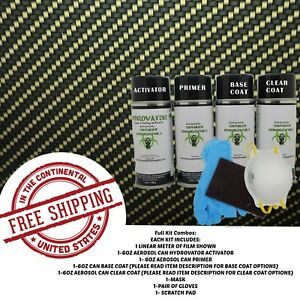 Hydrographic Water Transfer Hydro Dip Full Kit Activator Carbon Fiber 16 Film