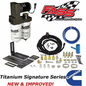 Fass Titanium Signature Fuel Pump System 165gph For 2005 2018 Ram Cummins Diesel