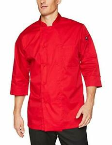 Chef Works Men s Morocco Chef Coat Red 2x large