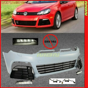 10 11 12 13 14 Vw Golf Gti Mk6 R20 Euro Style Front Bumper Cover W Daytime Led