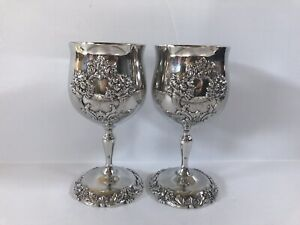 Reed Barton 1659 King Francis Silverplate Goblet Set