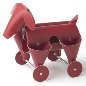 Amigos Dog Red Leather Desk Organizer Office Home Decor By Vacavaliente