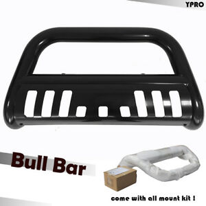 For 2002 2005 Dodge Ram 1500 Bull Bar Black Bumper Grilles Guard With Skid Plate