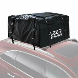 Roof Cargo Bag 20 Cubic Feet Waterproof With 4 Straps For All Cars W Roof Rack