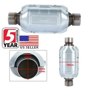 Three Way Universal Catalytic Converter 2 5 Oval High flow Cat Inlet outlet