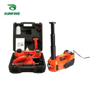12v 3ton Car Electric Tire Lifting Car Jacks With Impact Wrench And Tire Gauge