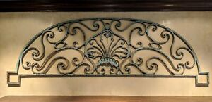 18th C Vintage French Wrought Iron Gate Overthrow Fragment