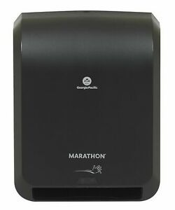 Marathon Automated Paper Towel Dispenser Large Roll Capacity Black Touchless