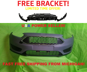 2015 2018 Ford Focus Front Bumper Cover Grills Fog Cover And Free Bracket