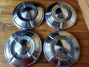 1961 1962 Chevy 409 Impala Belair Dog Dish Poverty Hubcaps Wheel Covers Set