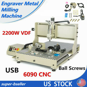 Usb 6090 4 Axis Vfd Cnc Router Engraver Engraving 3d Carving Machine 2 2kw