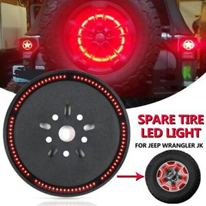 Spare Tire Led Light Wheel Rear 3rd Brake Tail Light For 07 18 Jeep Wrangler Jk