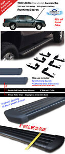 6 Running Boards Fit 02 06 Chevy Avalanche 1500 2500 Side Steps Bar Black