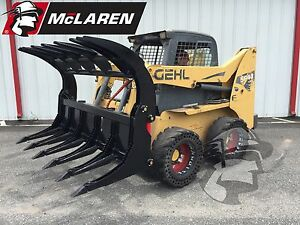 Log Brush And Rock Grapple Skid Steer Loader Attachment For Jcb 86 Wide