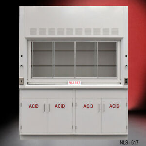 6 Chemical Bench Fume Hood Including W Acid Cabinets Fisher American E2 098