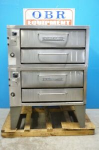 Bakers Pride Natural Gas Pizza Double Deck Oven Model 251