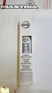 Nissan Pearl White Qab Touch Up Paint Clear Coat Pen Oem New