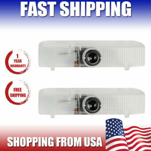 2 For Nissan Car Door Step Led Ghost Shadow Light Logo Projector Laser Courtesy