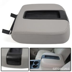 Center Console Armrest Lid Light Gray For Cadillac Chevy Gmc Pickup Truck 07 14