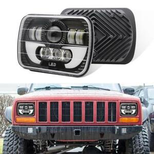 Pair 7x6 240w Led Headlights Hi Lo Beam Drl Angel Eyes For Toyota Pickup Truck