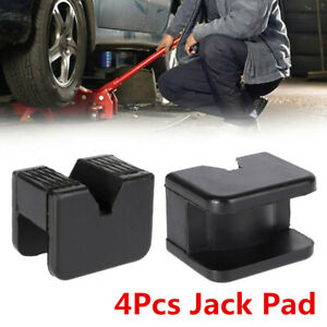 4pc Square Car Slotted Frame Rail Floor Jack Guard Adapter Pad Repair Tool Parts