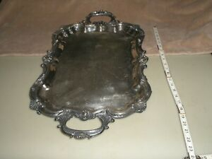 Beautiful Ornate Hallmarked Large Heavy Silver Serving Tray
