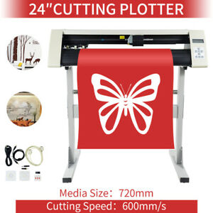24 Vinyl Sign Sticker Cutting Plotter Cutter Plotter Cutting Machine W Stand