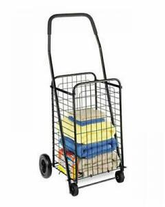 Folding Shopping Cart With Wheels Heavy Duty Portable Collapsible Grocery Basket