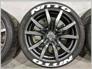 Nitto Rubber Stickers Tire Decal Bomb White Lettering