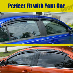 For 08 17 Mitsubishi Lancer Slim Acrylic Window Visors Vent Weather Guard 4pcs
