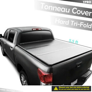 Hard Solid Tri fold Tonneau Covers For 2007 2019 Toyota Tundra 5 5 Ft Short Bed