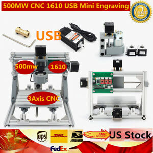 3axis Usb Diy Cnc 1610 Router Wood Engraving Carving Milling Machine 500mw Laser